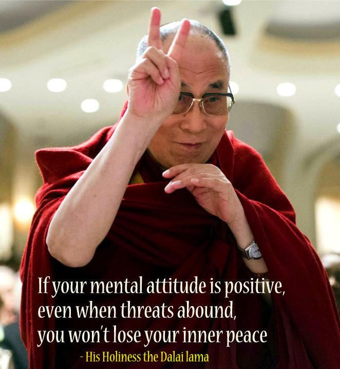 Dalai Lama On Attitude