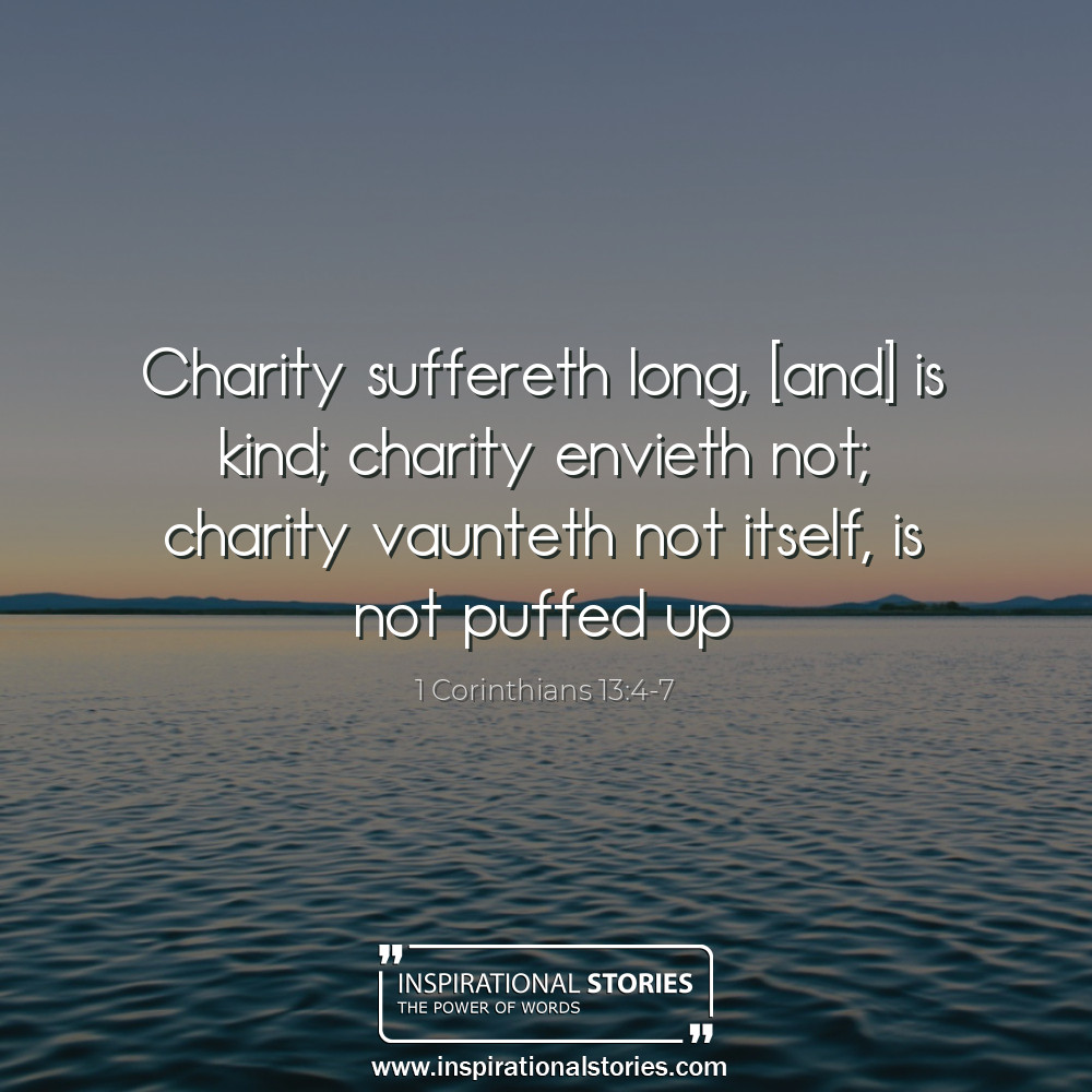 1 Corinthians 134 7 Charity Suffereth Long And Is Kind Charity Env