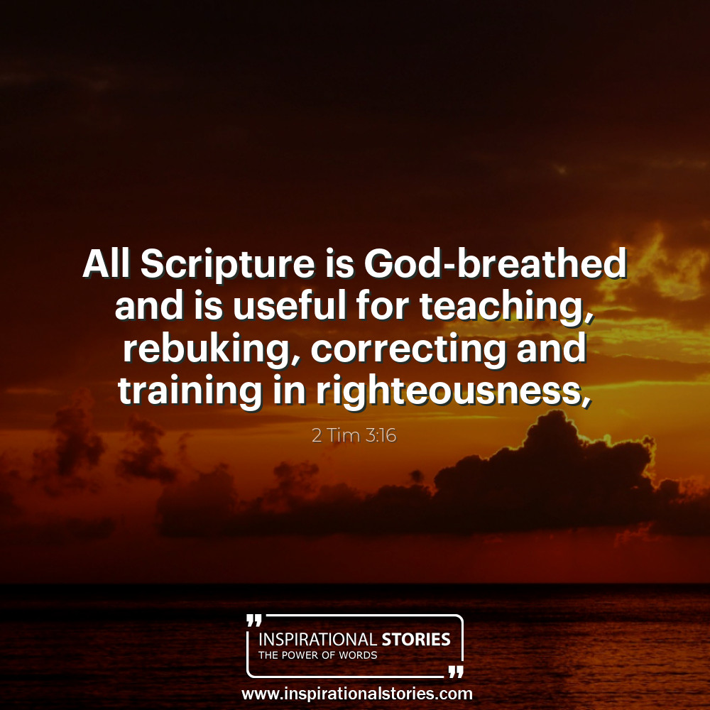 2 Tim 316 All Scripture Is God Breathed And Is Useful For Te