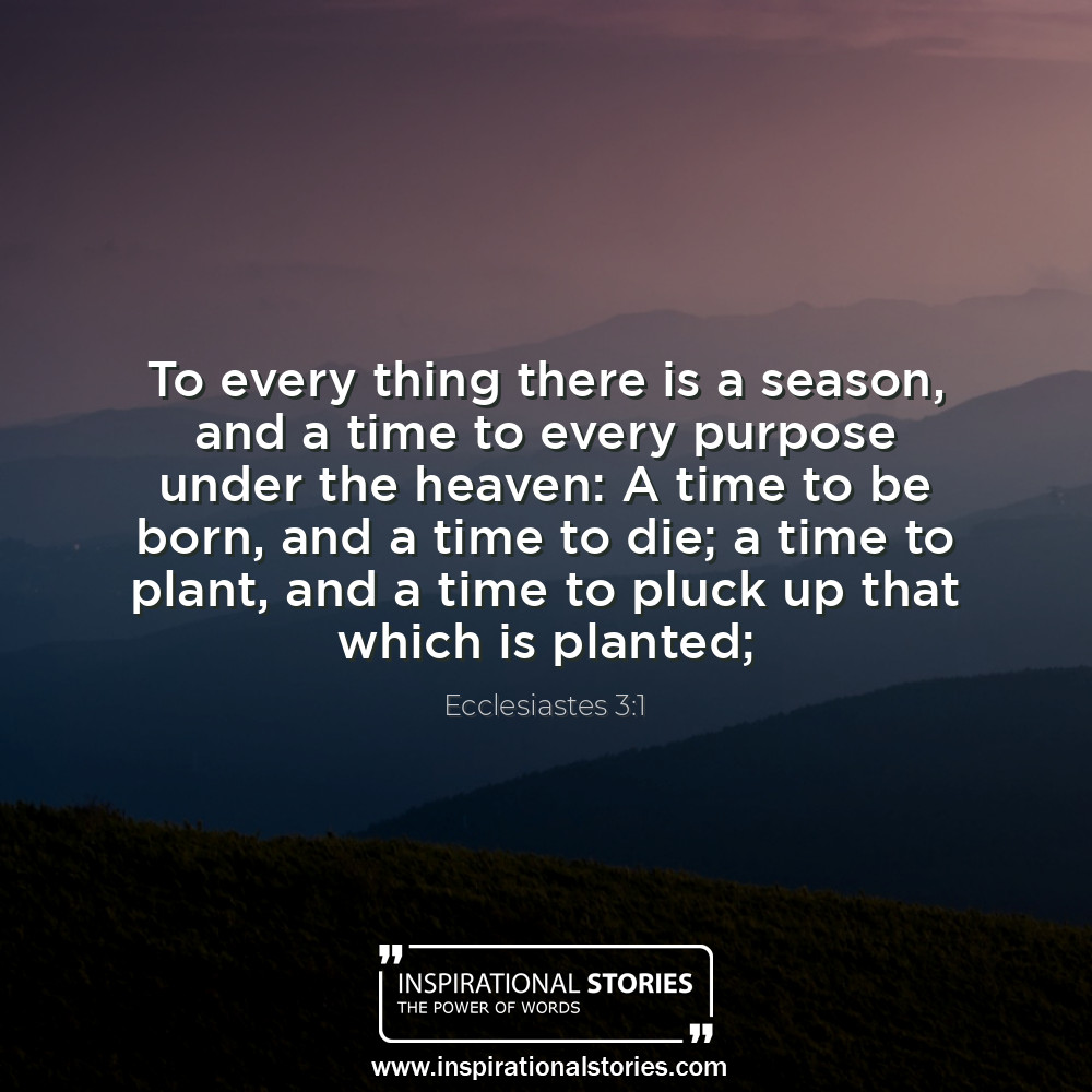 Ecclesiastes 31 To Every Thing There Is A Season And A Time To Ev