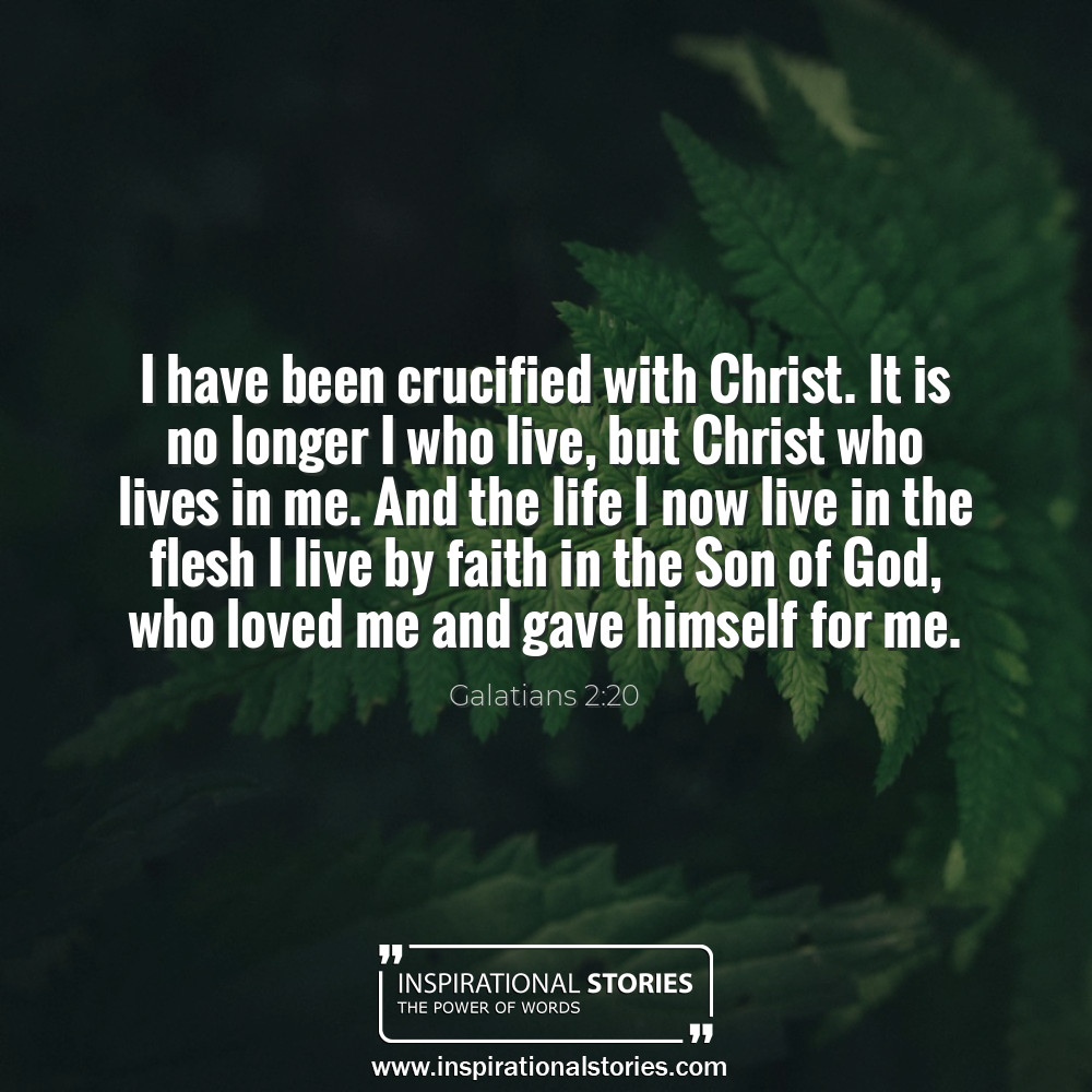 Galatians 220 I Have Been Crucified With Christ It Is No Longer