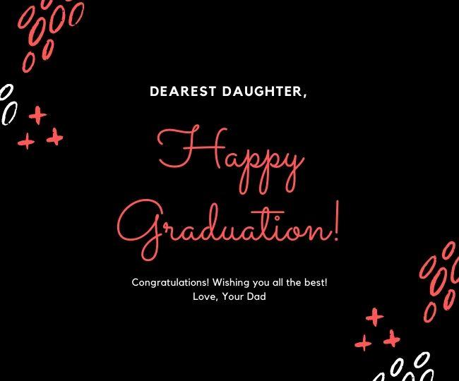 Dear Daughter Happy Graduation