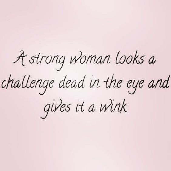Strong Woman Looks A Challenge